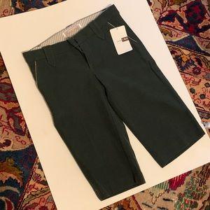 Zara TRF 🆕 Green Shorts w/Gold Trim